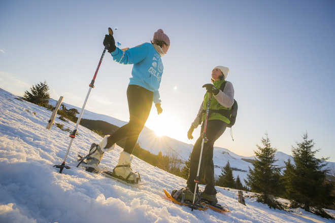 snow shoes in France with Aluna voyages