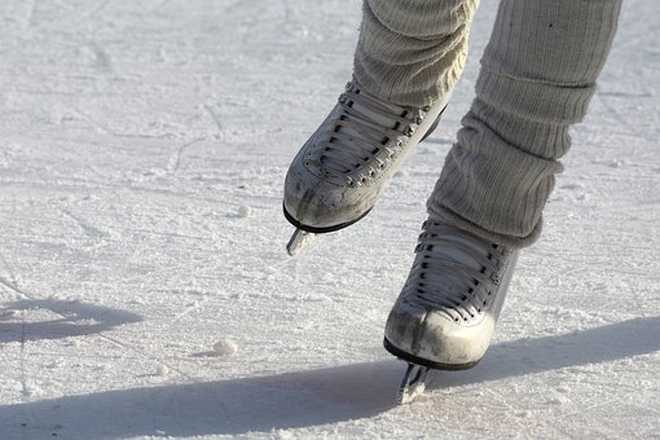 patinage sur lac